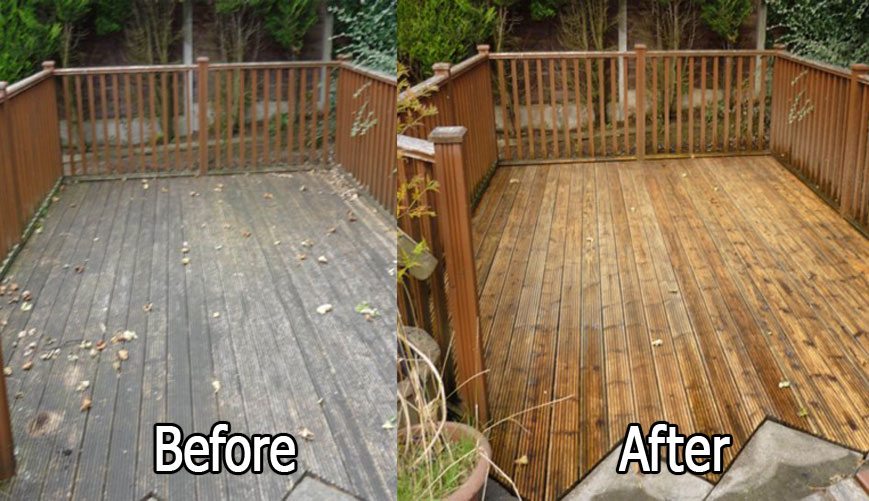 Decking Cleaning altrincham, cheshire